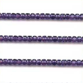African Amethyst Beads Tyre Faceted Shape And Size 6 To 8 mm