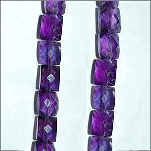 African Amethyst Beads Chicklets Faceted Shape And Size 6x4 To 8x6  mm