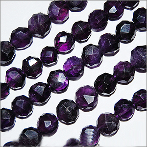 African Amethyst Beads Coin Faceted Shape And Size 6 To 8 mm