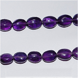 African Amethyst Beads Oval Plain Shape And Size 8x6 mm