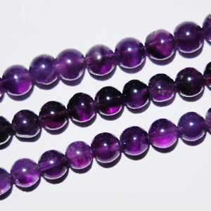 African Amethyst Beads Round Plain Shape And Size 6 mm