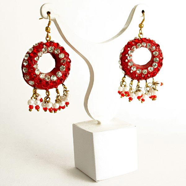 Lac Earrings In Iran - Iran Lac Earrings, Lac Jewelry