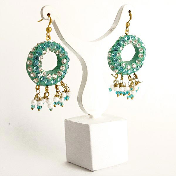 Lac Earrings In Indonesia - Indonesia Lac Earrings, Lac Jewelry