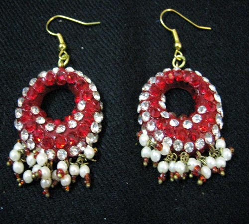 Indian lac earrings lakh jewelry
