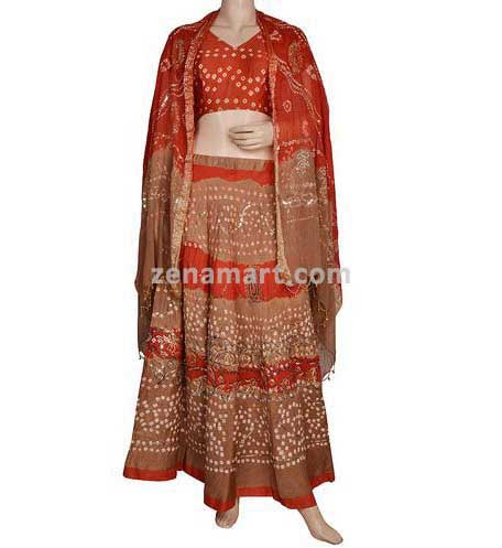 Womens 100% Cotton Dresses - Bandhej Lehenga Choli Exporter