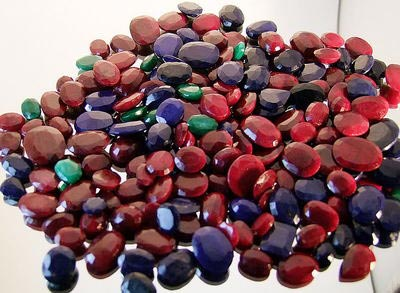 Ruby, Emerald, Sapphire Mix Gemstones Lot - Mix Gemstones Wholesaler & Supplier UK
