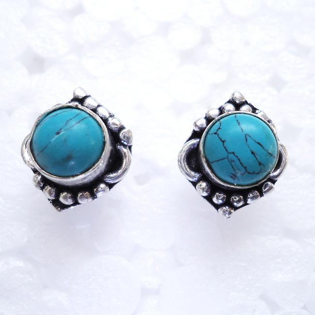 Turquoise Gemstone Tops, Earrings