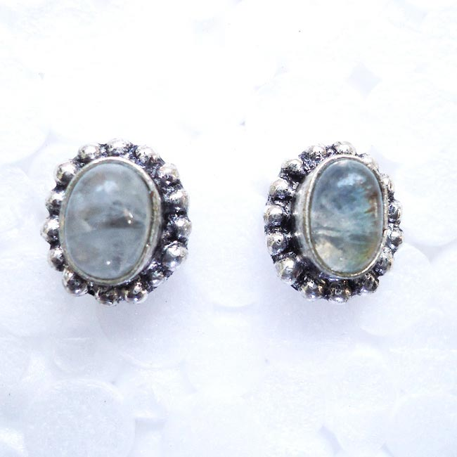 Moon Stone Gemstone Tops, Earrings