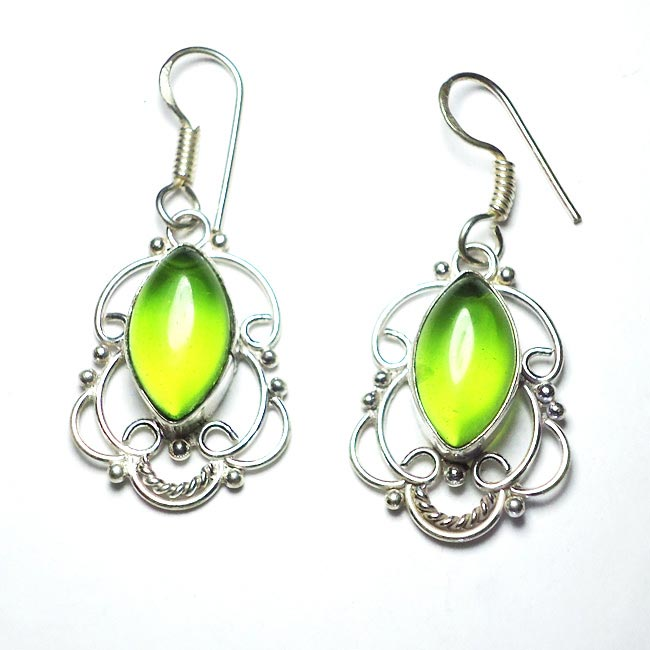 Green Quartz Gemstone Earrings